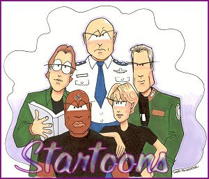 Startoons Stargate SG-1 Cartoons by Leah Rosenthal